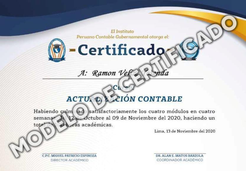 Certificado Cursos
