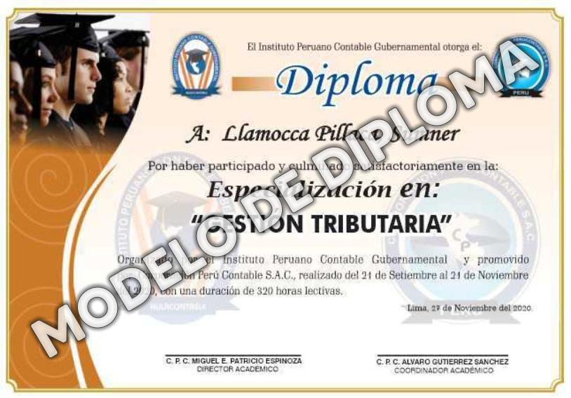 Diploma Especializaciones